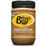 Gourmet Cinnamon Sunflower Seed Butter w/Chia Seeds by Betsy's Best 16 OZ - FREE RECIPE E-BOOK - All Natural and GMO Free