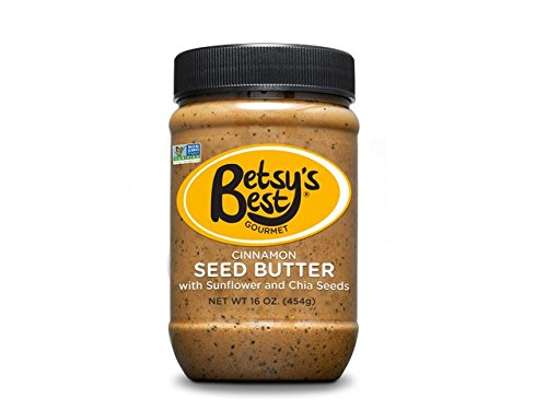 Gourmet Cinnamon Sunflower Seed Butter w/Chia Seeds by Betsy's Best - All Natural and GMO Free