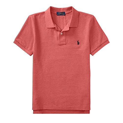 Ralph Lauren Polo Boys' Classic Cotton Mesh Polo Shirt (SalmonHth, S) by Polo Ralph Lauren