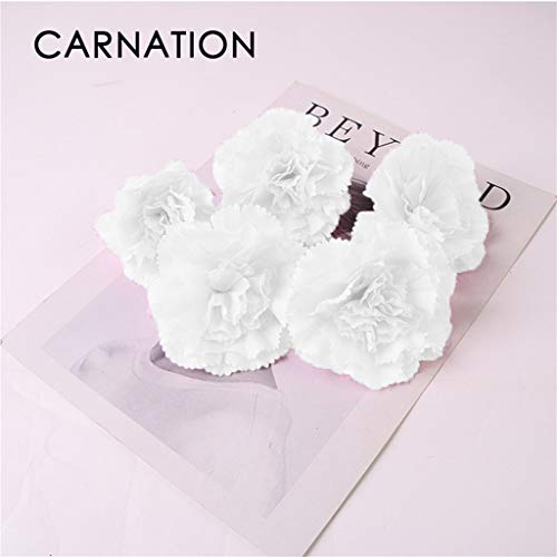 Wedding Bouquet - 10PCS Premium Decorative Artificial Flower Handmade with Artificial Silk Flowers | Wall Decor, Flower Walls, Backdrops, Weddings, Bridal Baby Showers, and Event Decor (White)