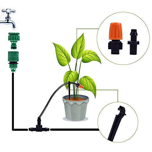 ZivaTech DIY 80FT 30 Nozzles Misting System Kit for Outdoor Patio Garden  Greenhouse Reptile Mosquito Prevent - Plastic Mist Nozzle Misting System