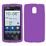 Asmyna PNP9090CASKSO056 Soft and Slim Durable Protective Case for Pantech Discover, 1-Pack, Retail Packaging, Electric Purple