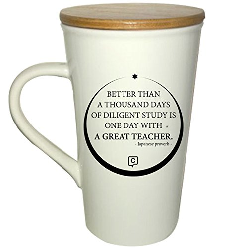 Teacher Mug with Bamboo Lid/Coaster; Teacher Gift