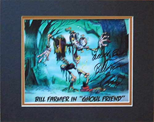 Halloween Disney Bill Farmer Voice of Goofy Autographed 8x10 Photo of Goofy As a Zombie Matted to 11x14 -