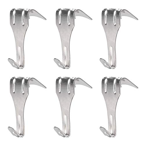 uxcell Solid Moulding Picture Hooks Hangers Rail Hanging Hook Galvanized Finish 54mmx29mm Sliver 6pcs