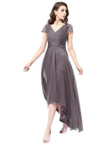 JYDress - Robe - Plissée - Femme -  gris - 40