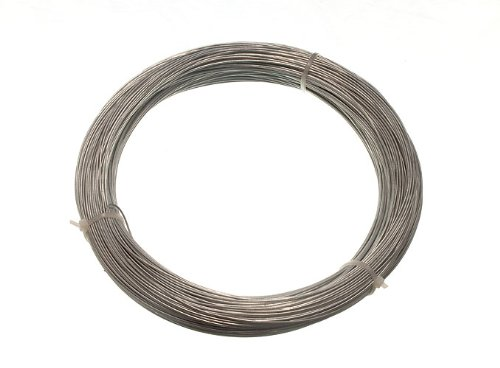 GALVANISED GARDEN FENCE WIRE 1 MM 80 METRES ( 1 roll 500g in weight )