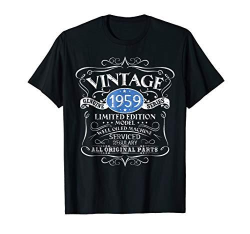 Vintage 1959 60th Birthday All Original Parts Gift TShirt