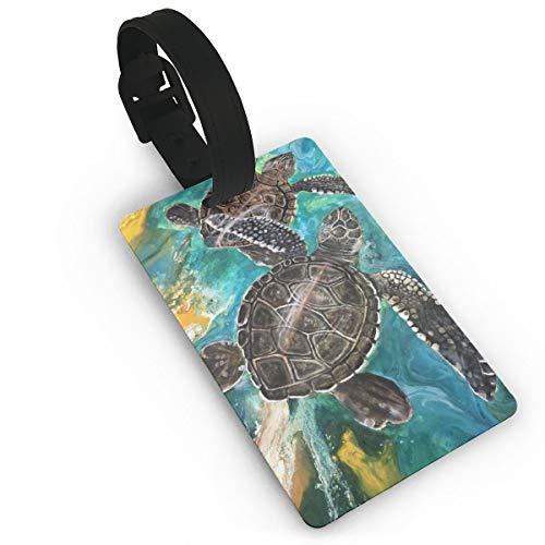 Judascepeda Suitcase Labels Bag It Takes Two Honu Sea Turtle Luggage Tags 1Pcs