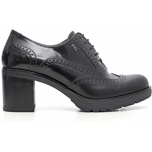 Abrasivato Para Giardini Nero Cordones Piel Zapatos De Mujer x4f0qO60wP