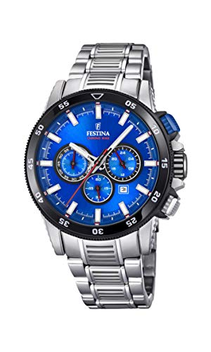 Festina Mens Chronograph Quartz Watch with Stainless Steel Strap F20352/2 (Watch Shop Uk Online)