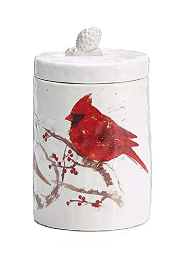 Burton & Burton Cookie Jar Cardinal Winter's Blessing]()