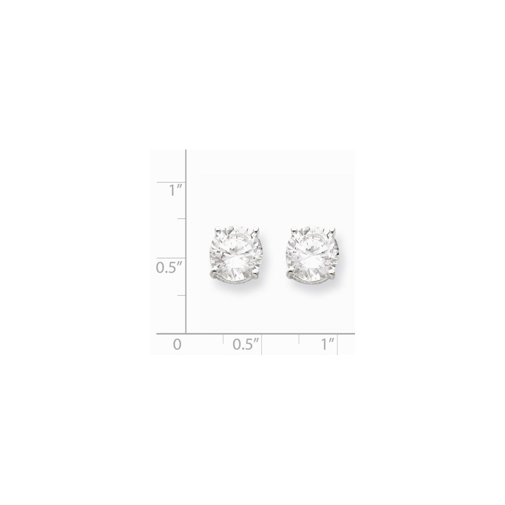 .925 Sterling Silver 9MM Round Basket Set CZ Post Stud Earrings