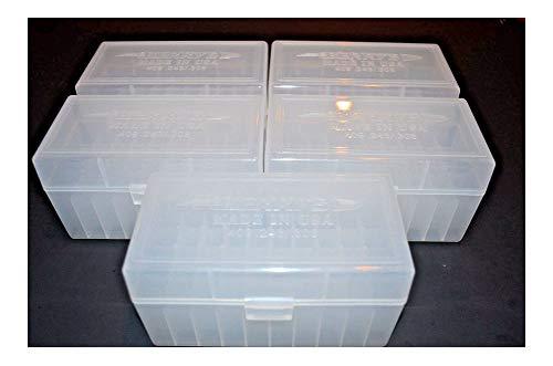 243 Storage Cabinet - (5) 243/308 Ammo Box/CASE 50 rd Plastic Box (Clear) 243 308
