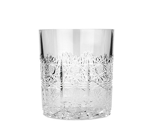 Aurum Crystal AU51099, 12 Oz Hand-Made Crystal Whiskey Scotch Tumblers, Clear Whisky Brandy Rum Glasses with Heavy Base, Wedding Gift Drinkware, Set of 6
