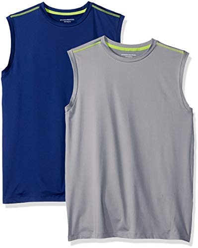 Amazon Essentials Boys' Active Performance Muscle Tank Tops