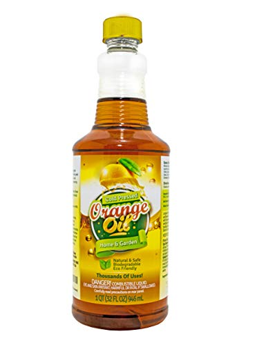 Pure Cold Pressed ORANGE OIL Concentrate - 32 oz (D-Limonene) By Green Gobbler (Best All Purpose Weed Killer)
