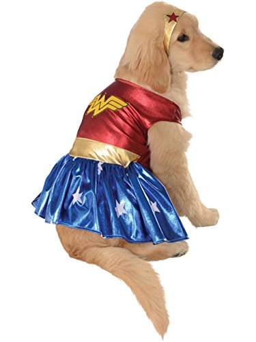DC Comics Pet Costume, X-Large, Wonder Woman -