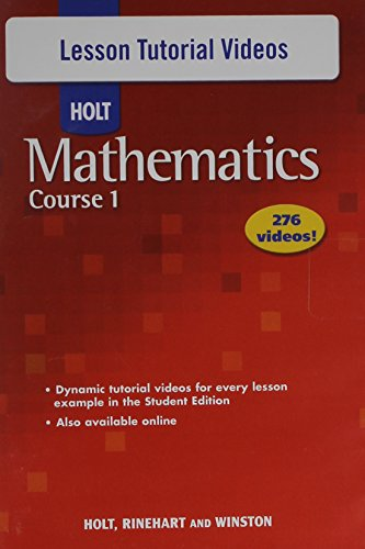 Holt Mathematics Course 1: Lesson Tutorial Videos CD-ROM