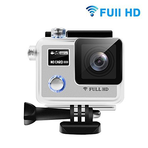 Sports Camera - HEIHEI F88BR 1080P FHD Dual Screen 170 Degree Adjustable Wide Angle Lens Action Camera Diving Cam DV Camcorder with Accessories Kit HEIHEI