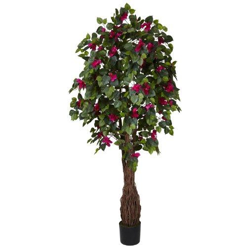 Nearly Natural 5343 Multi Vine Bougainvillea Silk Tree, 6-Feet, Green