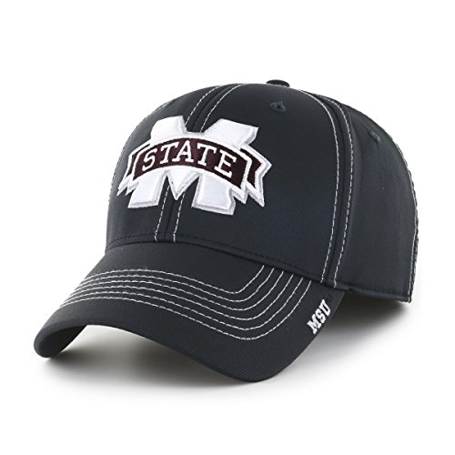 - NCAA Mississippi State Bulldogs Adult Start Line Ots Center Stretch Fit Hat, Large/X-Large, Black