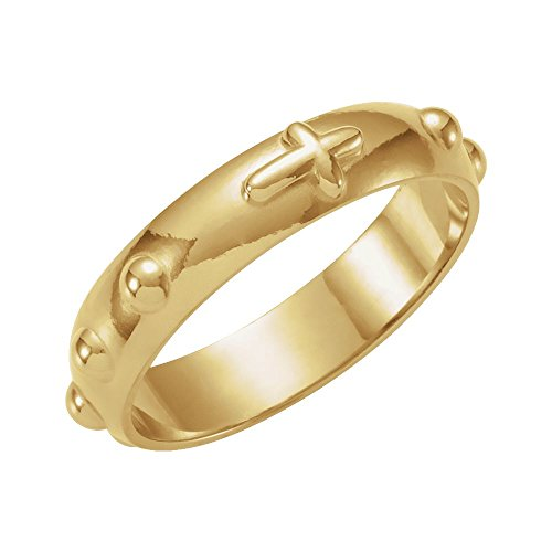 Bonyak Jewelry 14k Yellow Gold Rosary Ring - Size 8 14k Yellow Gold Rosary Ring