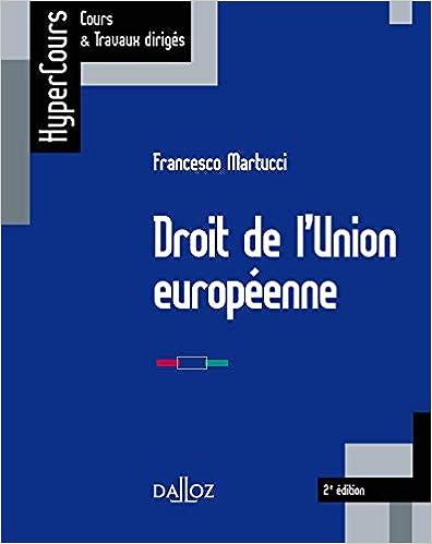 Book's Cover of Droit de l'Union européenne - 2e ed. (Français) Broché – 30 octobre 2019