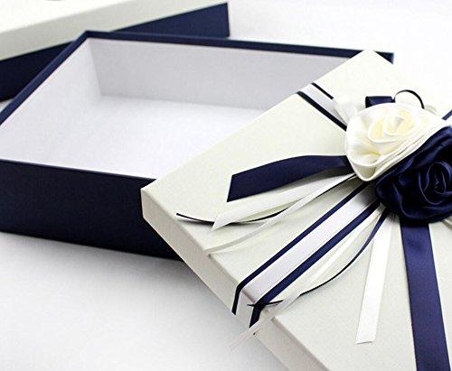 WDHP Caja De Regalo Rectangular Vestido De Novia Zapatos Caja De Regalo