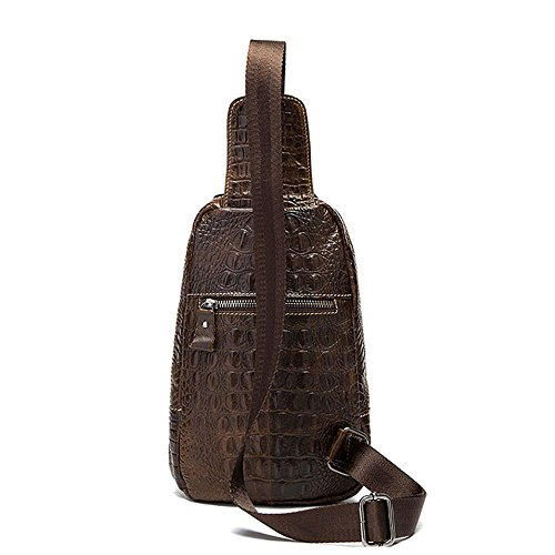 Pack Multipurpose Triangle Chest Shoulder Leather Crossbody Zipper Coffee Bags Movement color Carry Leisure Bag Rope Xuanbao Coffee Backpacks Rucksack Men Genuine agq1w6