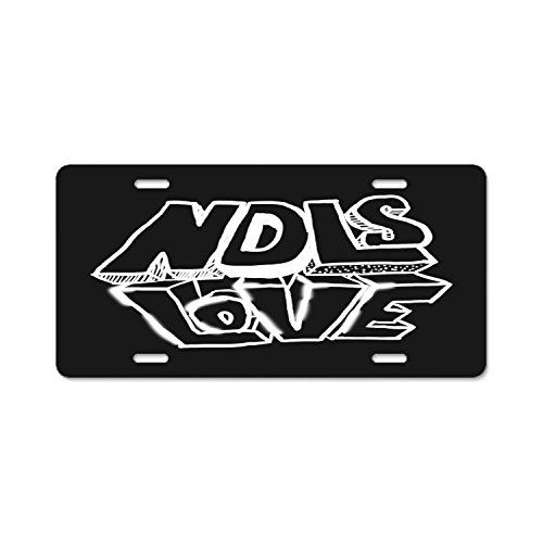 Bchengquch ndls love Aluminum Car Metal License Plate Frames For Car Plate Tag 12