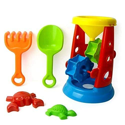 5 pcs Bath Beach Sand Water Toys Large-sized Hourglass Set For Kids Summer Swimming Playing