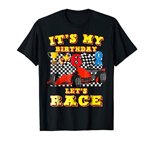 Birthday Boys Shirt Age 6 Race Speed Car Driving Theme Party ()