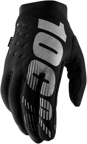 100% 2019 Brisker Colder Weather Gloves (LARGE) (BLACK/GREY)
