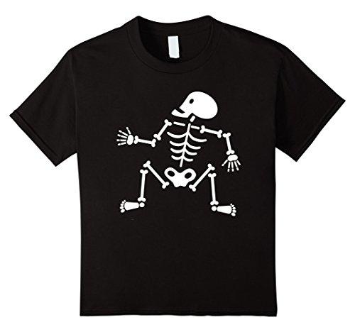 Kids Dancin' Bones Halloween Costume T-Shirt 8 Black