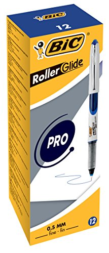 0.5 Mm Roller Tip - BiC 537r 0.5mm Needlepoint Tip Liquid Ink Roller Pen - Assorted Colours_Parent 0.5mm - Box of 12