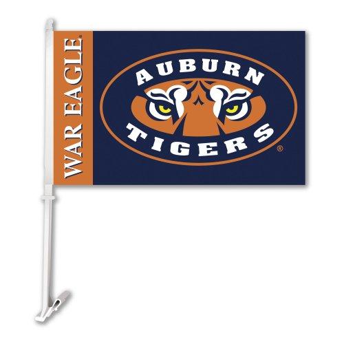 NCAA Auburn Tigers Tiger Eye Car Flag With Wall Bracket