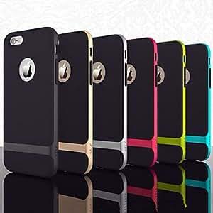 LCJ iPhone 5/5S iPhone - Per retro - per Design ( Rosso/Nero/Verde/Giallo/Dorato , Policarbonato ) , Blu scuro