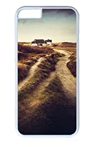 Dirt road house Custom iphone 6 plus 5.5 inch Case Cover Polycarbonate White