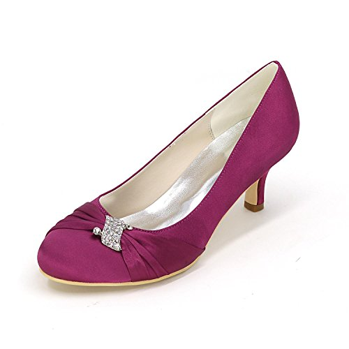 L@YC Frauen Fersen Frühling / Hochzeitsfeier / Herbst Wedges / Heels / Round Toe Seide Hochzeit / Party & abend Purple