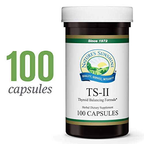 Nature's Sunshine TS II w/Hops, 100 Capsules | Supports Proper Thyroid Function and Helps Maintain Balance in The Thyroid Gland