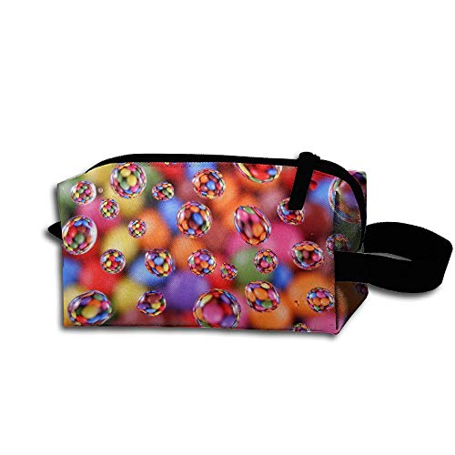 Portable Makeup Cosmetic Bag Colorful Glass Balls Medicine Bag Zip Travel Storage Pouch Mens Womens