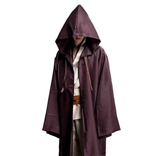 WESTLINK Hooded Robe Cloak Knight Cosplay Costume Cape - New Version - Bigger Cape (Double Cloth) with Strings