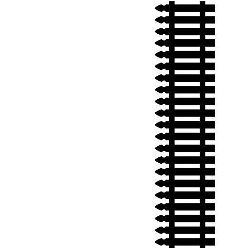 Darice 1218-73 Embossing Folder, 4.25 by 5.75-Inch, Picket Fence Design Darice (DARIE)