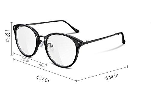 da37711db7e FEISEDY Women Vintage Glasses Frames Round Non Prescription Eyewear Clear  Lens B2260