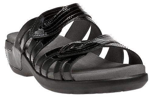 Aravon Women's Kendall Sandal, Size: 5 Width: B Color: Black Patent