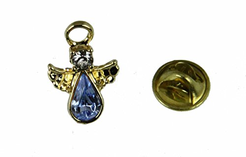 6030588 December Crystal Birth Month Guardian Angel Lapel Pin Brooch Tie Tack