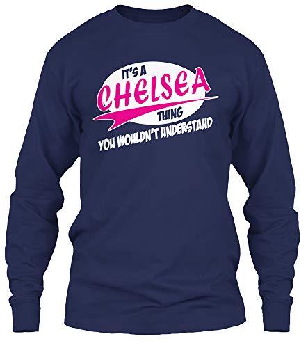 Its a Chelsea. 3XL - Navy Long Sleeve Tshirt - Gildan 6.1oz Long Sleeve Tee