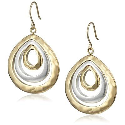 Cheap Kenneth Cole New York Two-Tone Teardrop Orbital Earrings free shipping