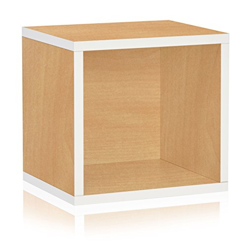 Way Basics Eco Stackable Connect Open Storage Cube and Cubby Organizer, Limited Edition  (made from sustainable non-toxic zBoard (Basic Side Load Stackable)